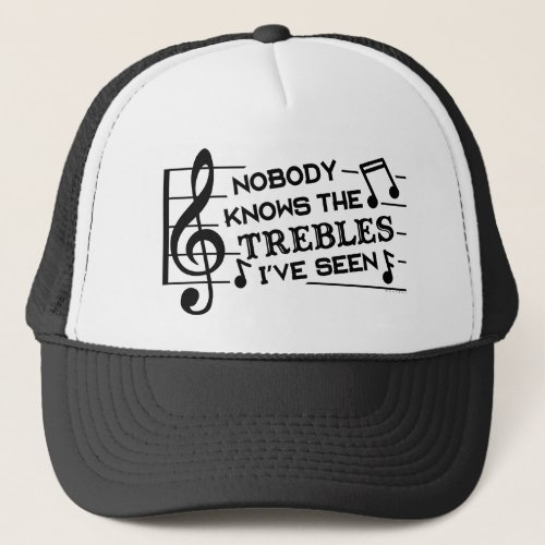 Funny Musicians Treble Joke Pun  Music Teachers Trucker Hat