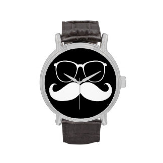 Funny Mustache 2 Wristwatches