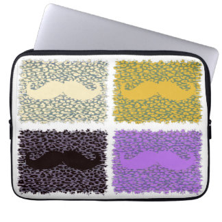Funny Mustache 3 Computer Sleeve