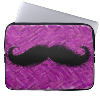 Funny Mustache Abstract Painting Laptop Computer Sleeves