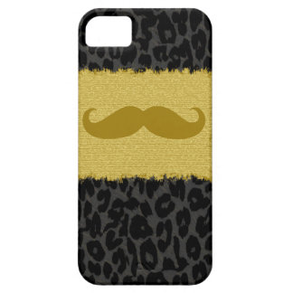 Funny Mustache and Leopard Print 2 iPhone SE/5/5s Case