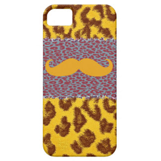 Funny Mustache and Leopard Print iPhone SE/5/5s Case
