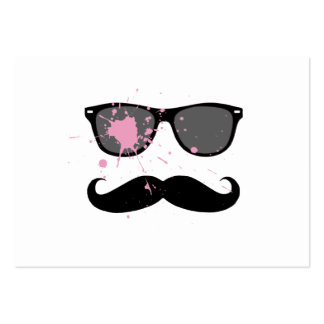 Funny Mustache and Sunglasses Business Cards