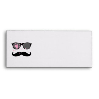 Funny Mustache and Sunglasses Envelope