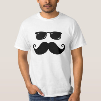 Funny mustache and sunglasses face t-shirts