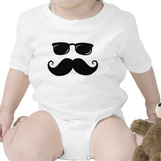 Funny mustache and sunglasses face t shirt