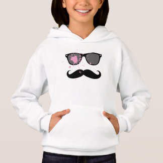 Funny Mustache and Sunglasses Hoodie