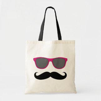 Funny Mustache and Sunglasses Humour Tote Bag