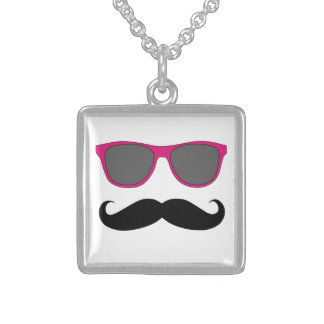 Funny Mustache and Sunglasses Necklace