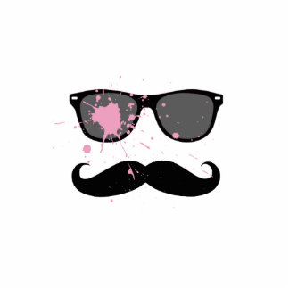 Funny Mustache and Sunglasses Cut Outs