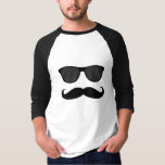 Funny Mustache and Sunglasses T-shirt