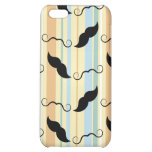 Funny Mustache Background iPhone 5C Cases