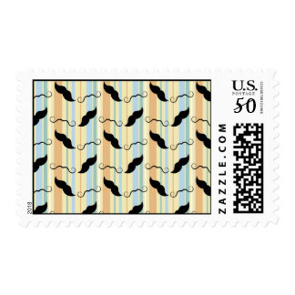 Funny Mustache Background Postage