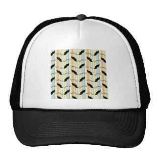 Funny Mustache Background Trucker Hat