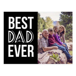 Funny mustache Best dad ever father's day photo Postcard