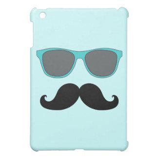 FUNNY MUSTACHE BLUE SUNGLASSES CASE FOR THE iPad MINI
