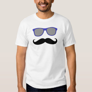 Funny Mustache Blue Sunglasses T-shirts
