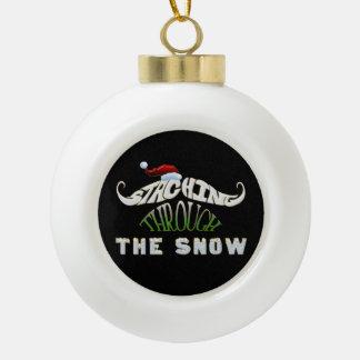 Funny Mustache Christmas Ornament