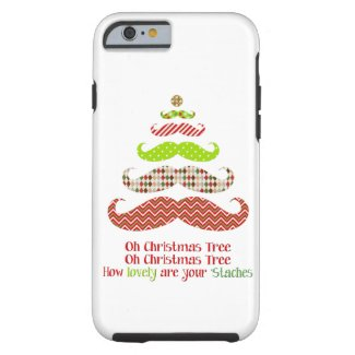 Funny Mustache Christmas tree holiday iPhone 6 cas iPhone 6 Case