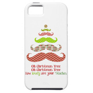Funny Mustache Christmas tree holiday iphone case iPhone 5 Cover