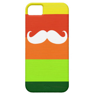 Funny Mustache. Colorful Stripes Background iPhone SE/5/5s Case