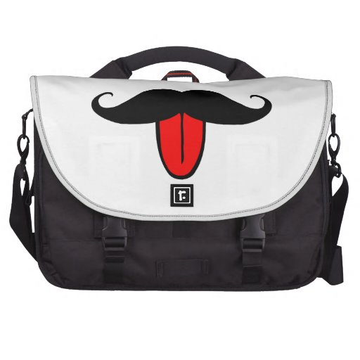 Funny mustache commuter bags