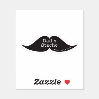 Funny Mustache Contour Sticker for Father's Day