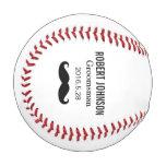 Funny Mustache Custom Groomsman Best man Wedding Baseball