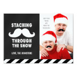FUNNY MUSTACHE CUSTOMIZABLE HOLIDAY GREETING CARD PERSONALIZED ANNOUNCEMENT