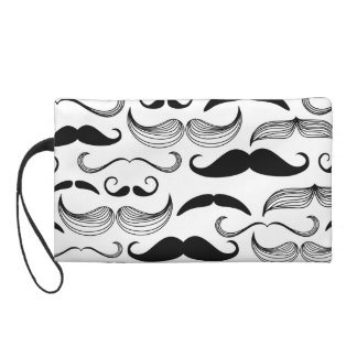 Funny Mustache Design Wristlet Clutches