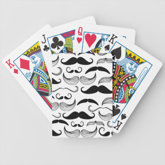 Funny Mustache Design Bicycle Playing Cards