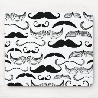Funny Mustache Design Mouse Pad