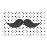 Funny Mustache Drawing And Black Polka Dots Double-Sided Standard Business Cards (Pack Of 100)