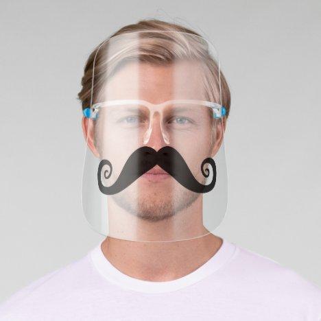 Funny Mustache Face Shield