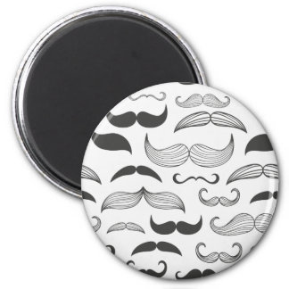 Funny Mustache Fantachetic 2 Inch Round Magnet
