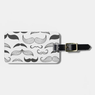 Funny Mustache Fantachetic Bag Tag