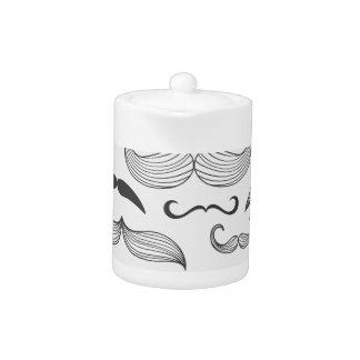 Funny Mustache Fantachetic Teapot