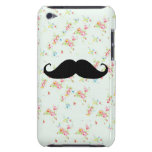 Funny mustache floral mustaches girly pattern iPod touch covers