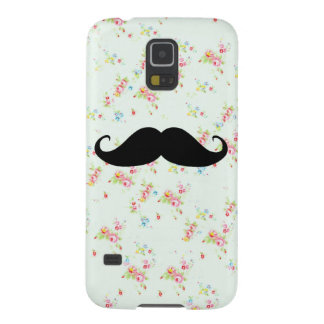 Funny mustache floral mustaches girly pattern galaxy s5 case