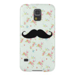 Funny mustache floral mustaches girly pattern galaxy s5 cover