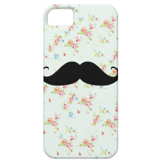 Funny mustache floral mustaches girly pattern iPhone SE/5/5s case