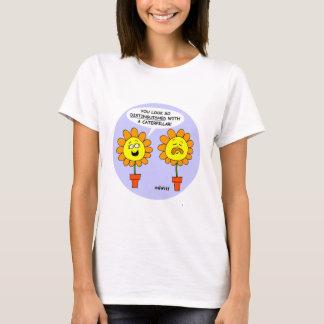 Funny Mustache & Flower GardenerT Shirt