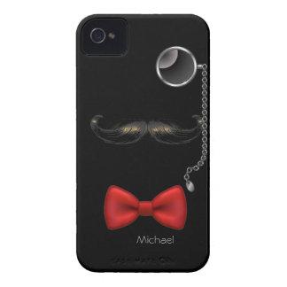 Funny Mustache Glasses Bow Tie Blackberry Case