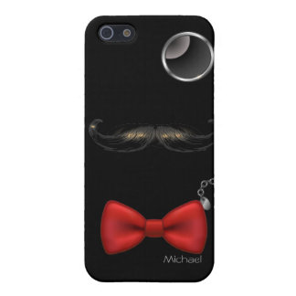 Funny Mustache Glasses Bow Tie iPhone 5 Case.
