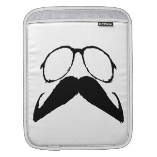 Funny  Mustache Glasses Sleeves For iPads