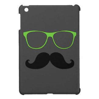 FUNNY MUSTACHE GREEN SUNGLASSES iPad MINI CASE