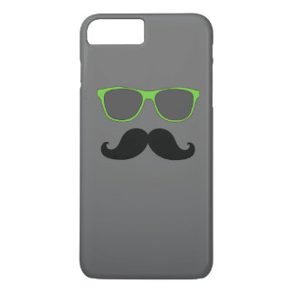 FUNNY MUSTACHE GREEN SUNGLASSES iPhone 8 PLUS/7 PLUS CASE