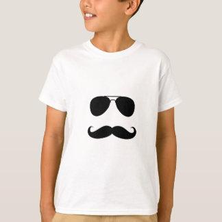 Funny Mustache Guy Print T-Shirt