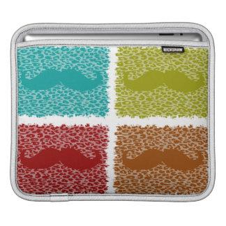 Funny Mustache iPad Sleeve