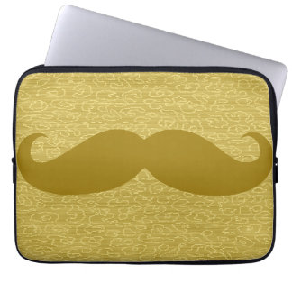 Funny Mustache Laptop Sleeves